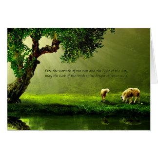 Cartão do dia de St Patrick verde bonito do