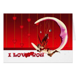 Cartão do dia de St.Valentine, corações feericamen