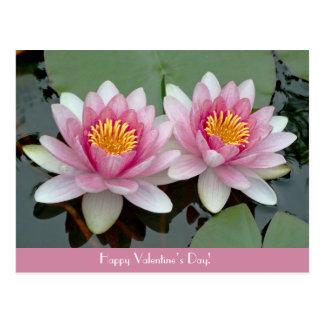 Cartão do dia de Waterlily LotusValentive de
