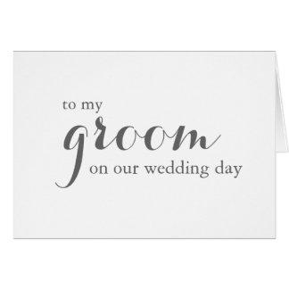 Cartão do dia do casamento a preparar