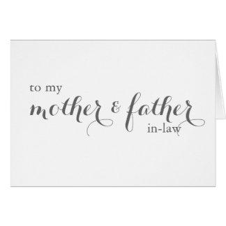 Cartão do dia do casamento para familiares