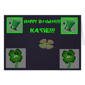 Cartão do dia do cumprimento do aniversário do Dia