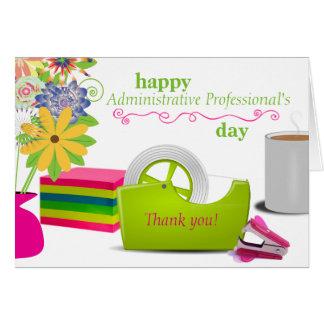 Cartão do dia do profissional administrativo
