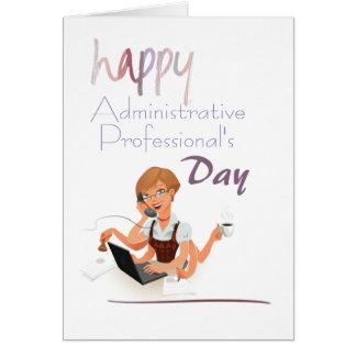 Cartão do dia do profissional administrativo do