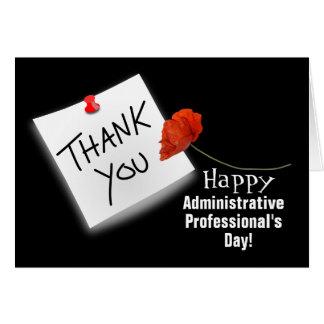 Cartão do dia do profissional administrativo dos