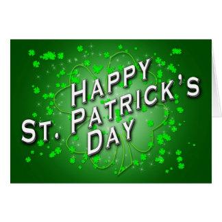 Cartão do dia do St. Patricks por John David