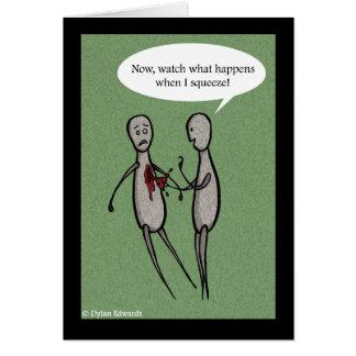 Cartão do dia dos Anti-Namorados - aperto do