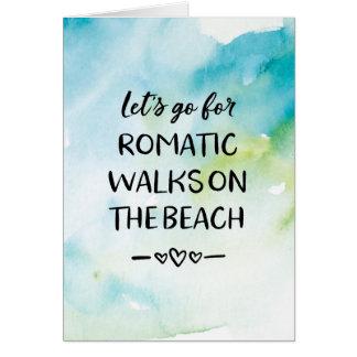 Cartão do dia dos namorados, caminhadas românticas