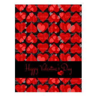Cartão do dia dos namorados cartão postal