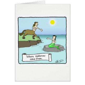 Cartão do dia dos namorados: Cavalos marinhos