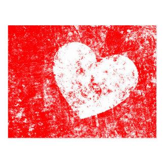 Cartão do dia dos namorados com coração do branco
