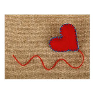 Cartão do dia dos namorados com coração vermelho