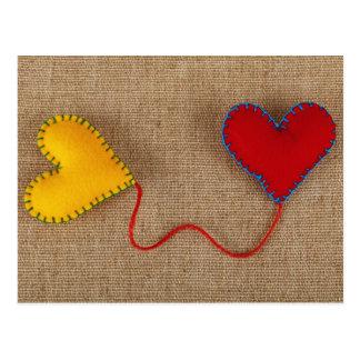 Cartão do dia dos namorados com corações coloridos
