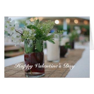 Cartão do dia dos namorados com flor