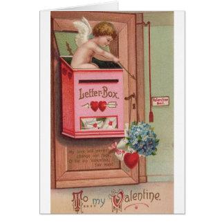 Cartão do dia dos namorados da carta de amor do