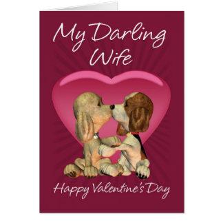 Cartão do dia dos namorados da esposa com os dois