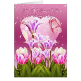 Cartão do dia dos namorados da esposa - dia dos na