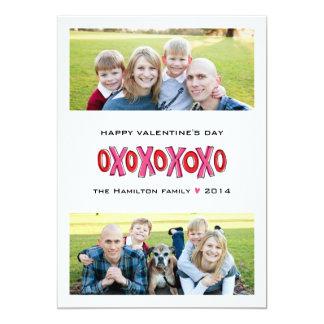 Cartão do dia dos namorados da família da convite 12.7 x 17.78cm