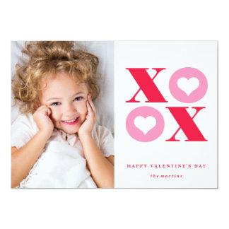 cartão do dia dos namorados da foto do xoxo convite 12.7 x 17.78cm