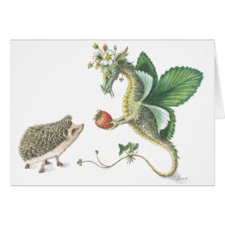 Cartão do dia dos namorados da morango