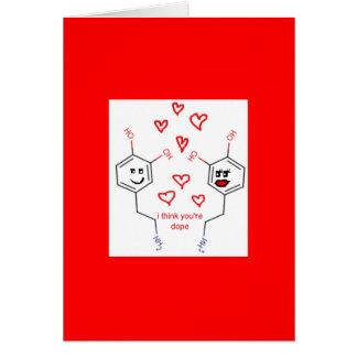Cartão do dia dos namorados da neurociência