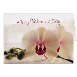 Cartão do dia dos namorados da orquídea