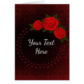 Cartão do dia dos namorados da rosa vermelha