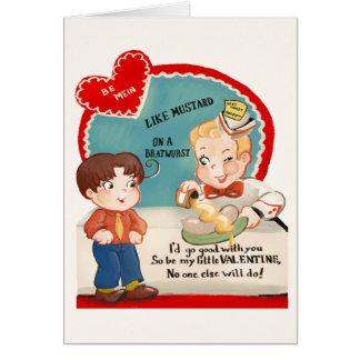 Cartão do dia dos namorados da salsicha da