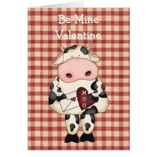 Cartão do dia dos namorados da vaca do MOO do