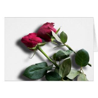 Cartão do dia dos namorados das rosas vermelhas