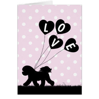 Cartão do dia dos namorados de Bichon Frise