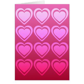 Cartão do dia dos namorados de dúzia corações