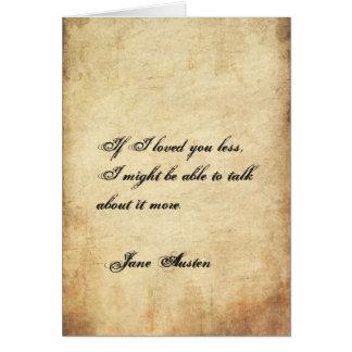 Cartão do dia dos namorados de Jane Austen