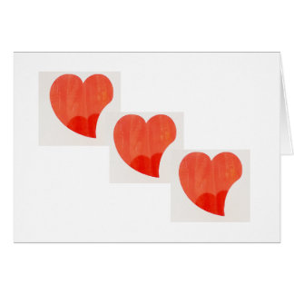 Cartão do dia dos namorados de três corações