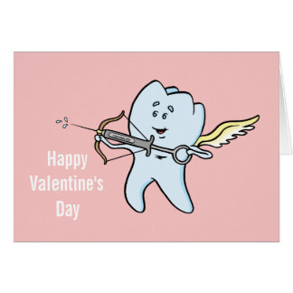 Cartão do dia dos namorados de Valentooth do santo