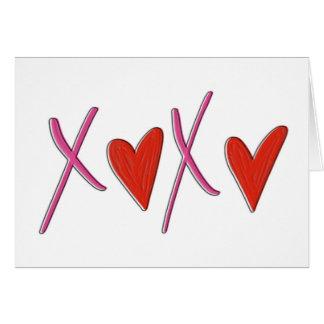 Cartão do dia dos namorados de XOXO