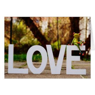 Cartão do dia dos namorados do amor