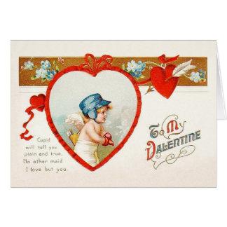 Cartão do dia dos namorados do amor do Cupido do