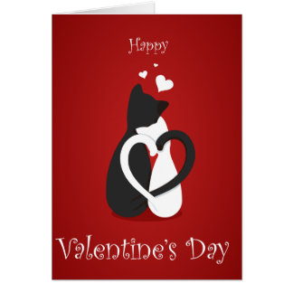 Cartão do dia dos namorados do amor do gato