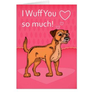 Cartão do dia dos namorados do cão de Terrier de
