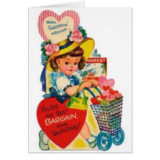 Cartão do dia dos namorados do cliente do negócio