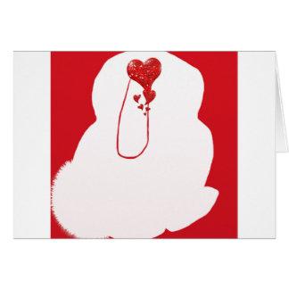 Cartão do dia dos namorados do coelho do Snuggle