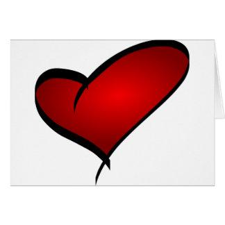 Cartão do dia dos namorados do coração