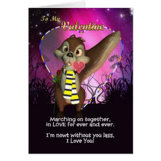 Cartão do dia dos namorados do fã de Leeds
