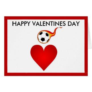 Cartão do dia dos namorados do futebol