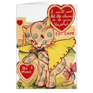 Cartão do dia dos namorados do gato de chita do