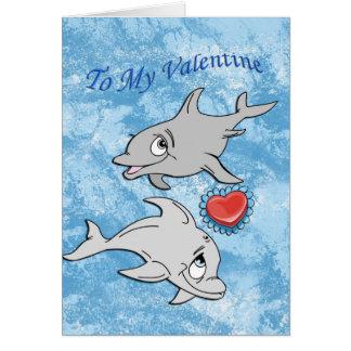 Cartão do dia dos namorados do golfinho