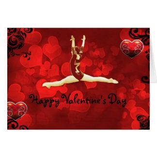 Cartão do dia dos namorados do Gymnast