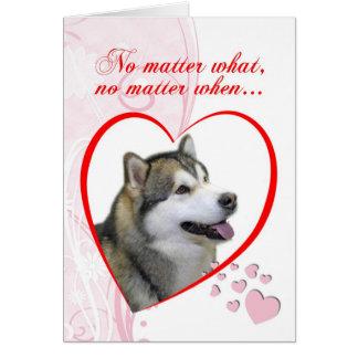 Cartão do dia dos namorados do Malamute