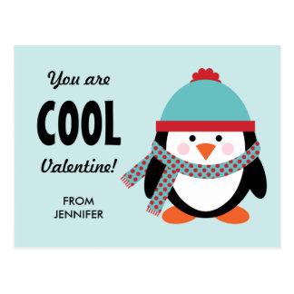 Cartão do dia dos namorados do miúdo - pinguim